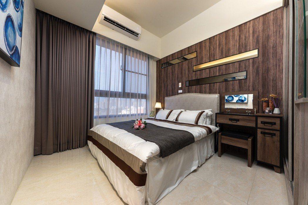 寬敞舒眠 主臥室。圖片提供/利富建設