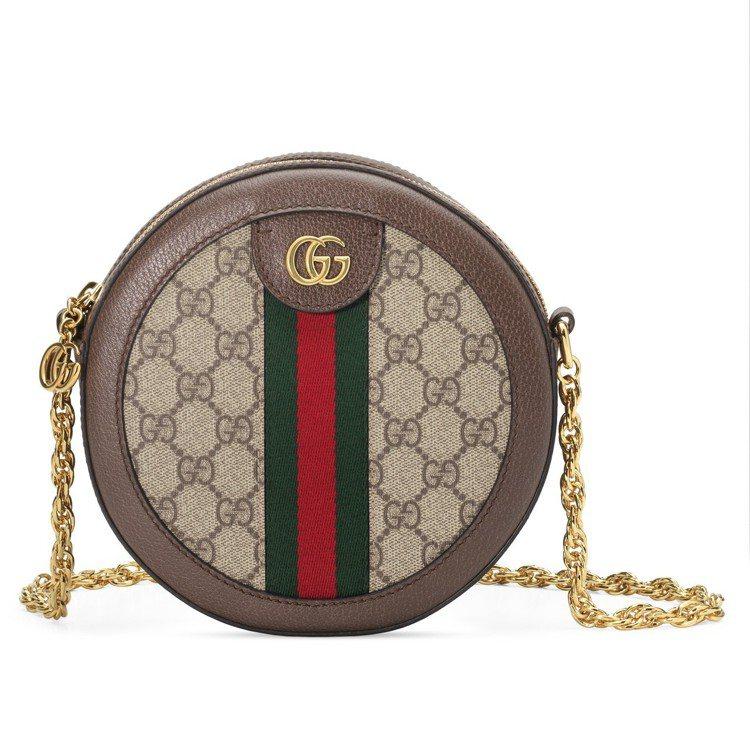 Ophidia系列圓形迷你鍊包,40,600元。圖/Gucci提供