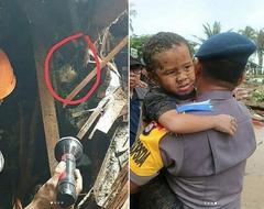 影/海嘯席捲受困12小時 印尼5歲男童奇蹟生還
