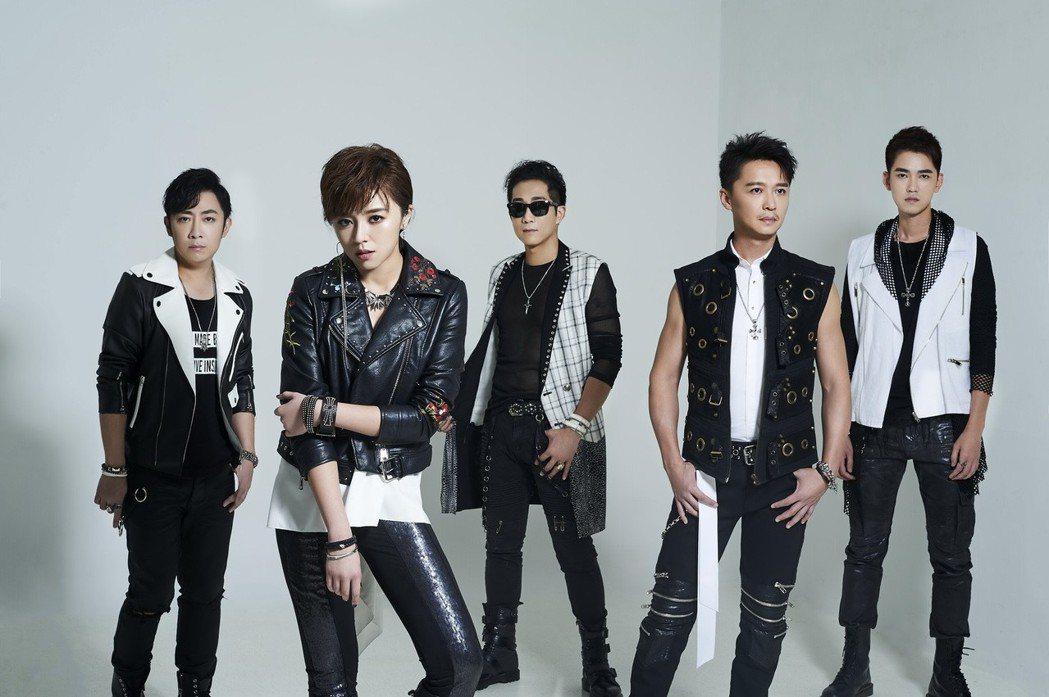 左起艾成、王瞳、阿修羅、何豪傑、樂咖。圖/87樂團提供
