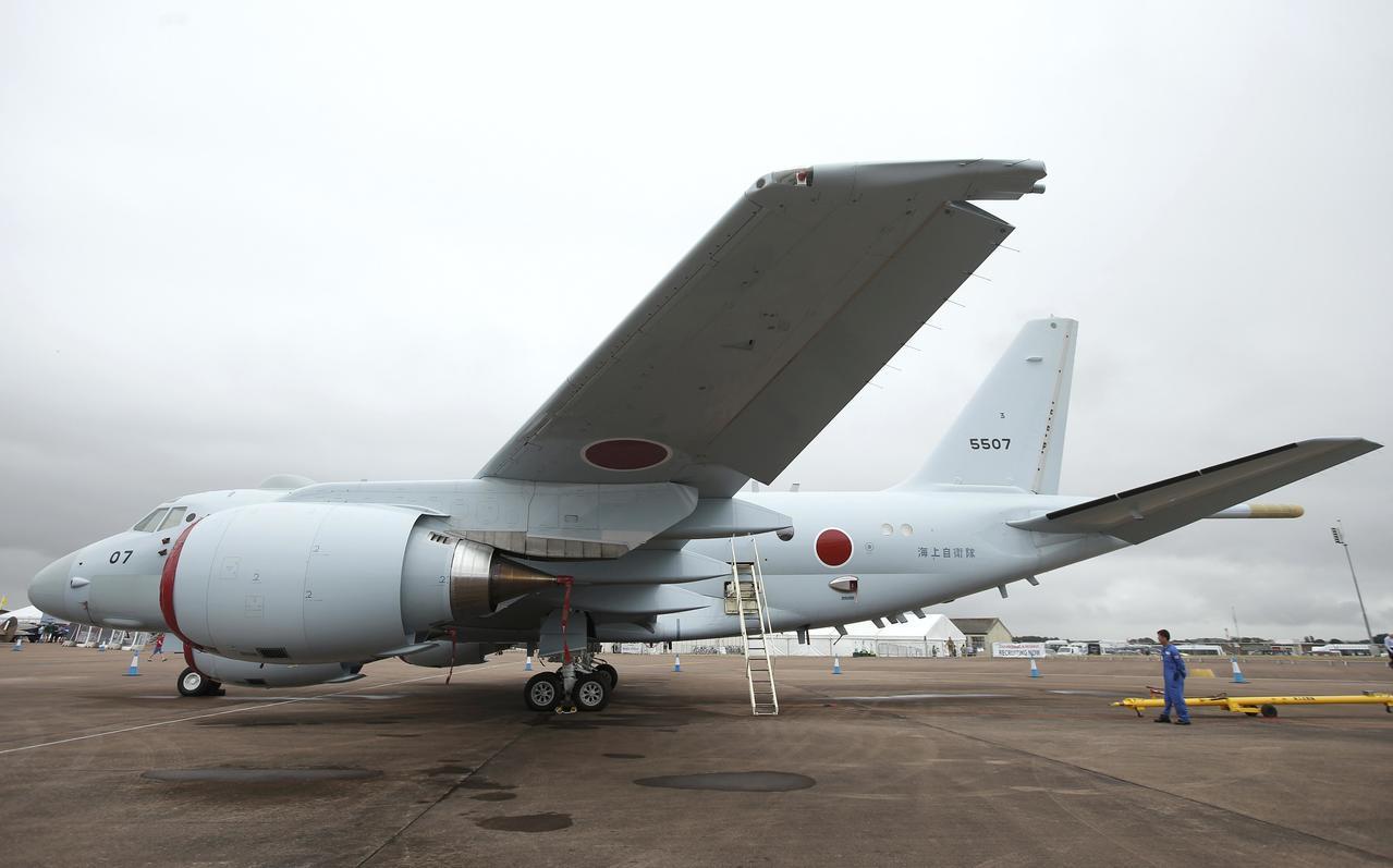 日本海上自衛隊的P-1巡邏機。路透