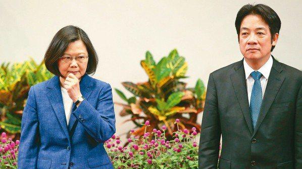 台大校長案,行政院長賴清德(圖右)在記者會前要求教育部長葉俊榮審慎思考,但賴清德...