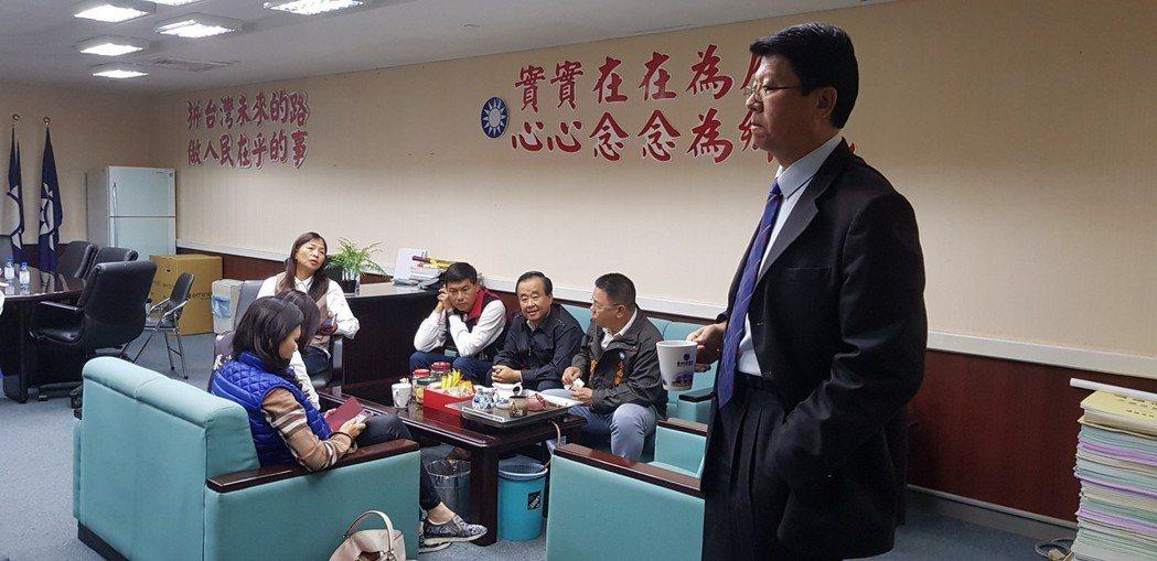 台南市議會國民黨團上午在議會協商正、副議長選舉。 報系資料照
