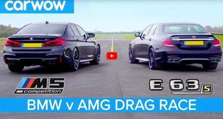 影/終於等到你 Mercedes-AMG E63 S對決BMW M5 Competition挑戰日耳曼最速四門!