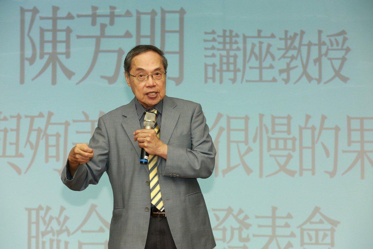 政治大學台灣文學研究所教授陳芳明。聯合報系資料照/記者黃義書攝影