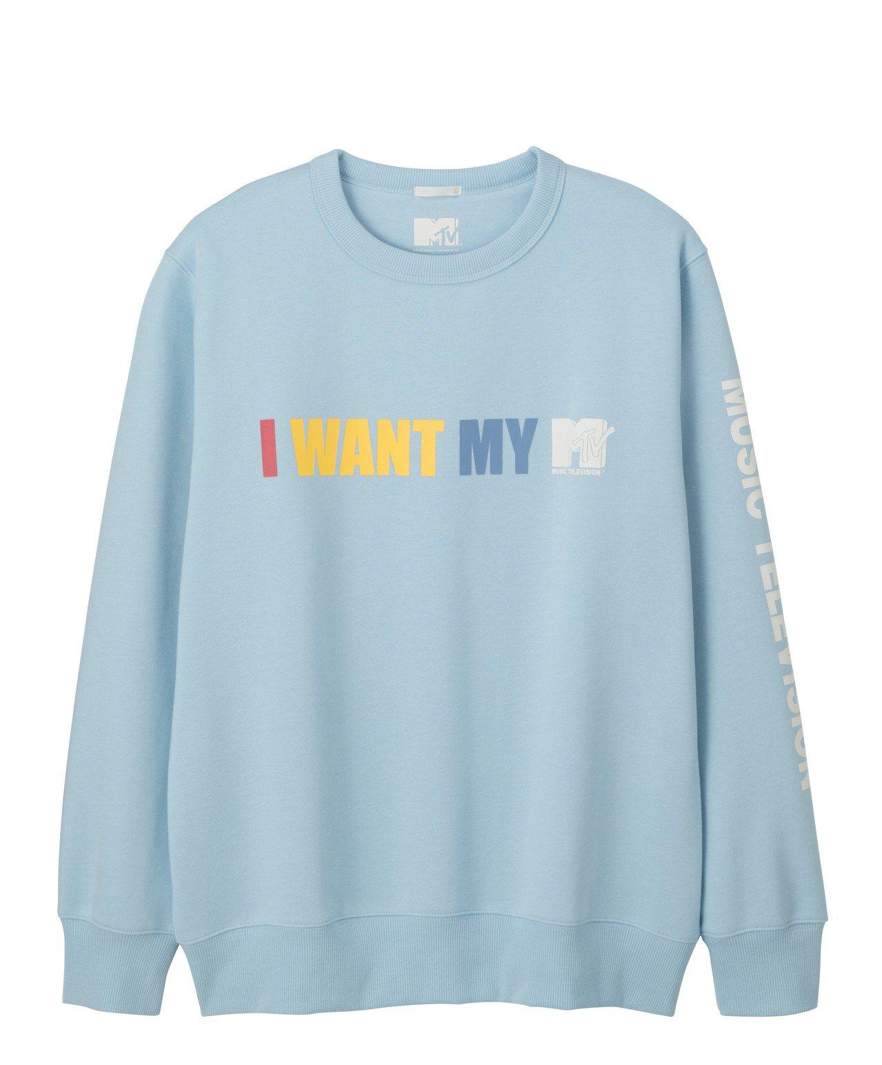 GU與MTV聯名系列休閒上衣,590元。圖/GU提供