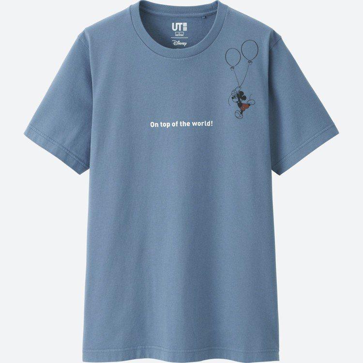 CELEBRATE MICKEY UT系列男裝印花T恤,590元。圖/UNIQL...