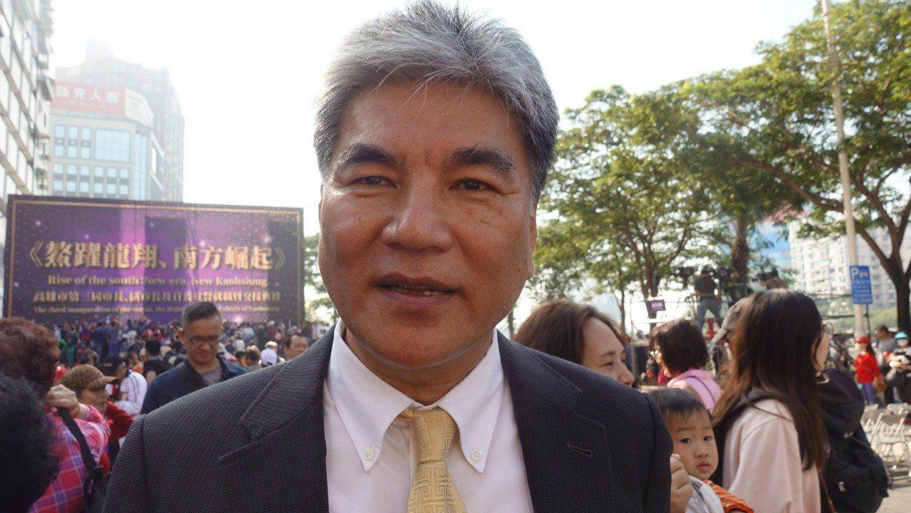 韓國瑜請內政部前部長李鴻源擔任高雄治水總顧問。記者劉星君/攝影