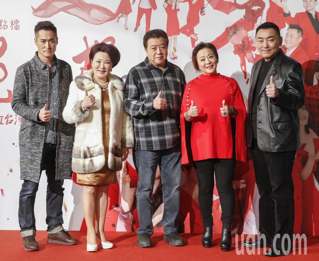 三立電視台新八點檔台劇「炮仔聲」下午舉行首映會,主角徐亨(右起)、劉秀雯、林在培...