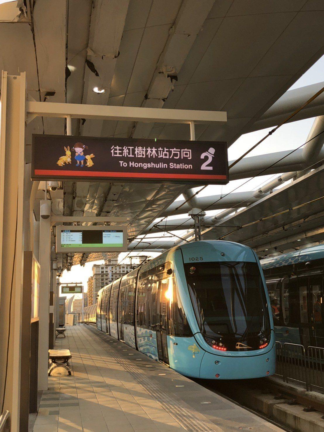 淡海輕軌綠山線於12月24日起試營運。圖/新北市政府提供