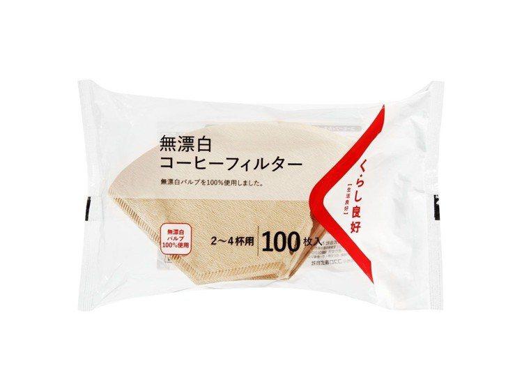 日本進口「生活良好無漂白咖啡濾紙」。圖/全聯提供
