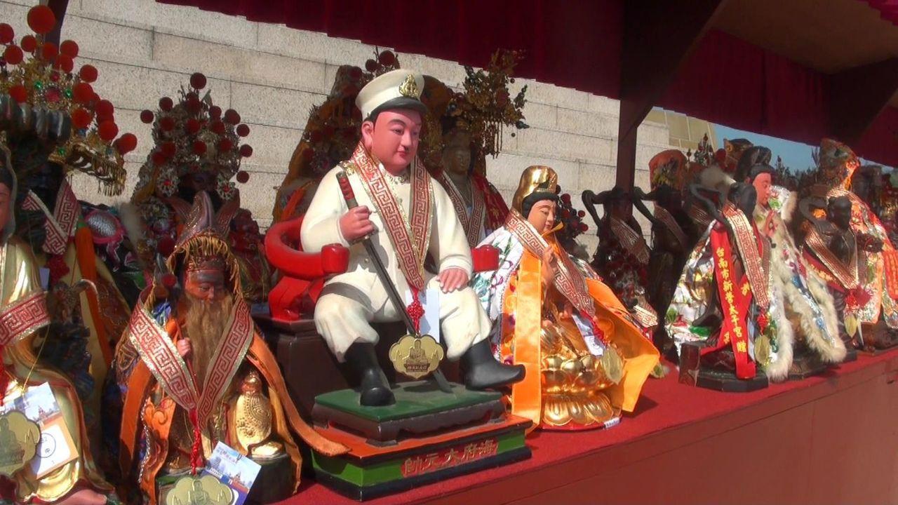 日本海府大元帥神尊,也參加今年佛光山世界神明聯誼會。記者王昭月/攝影