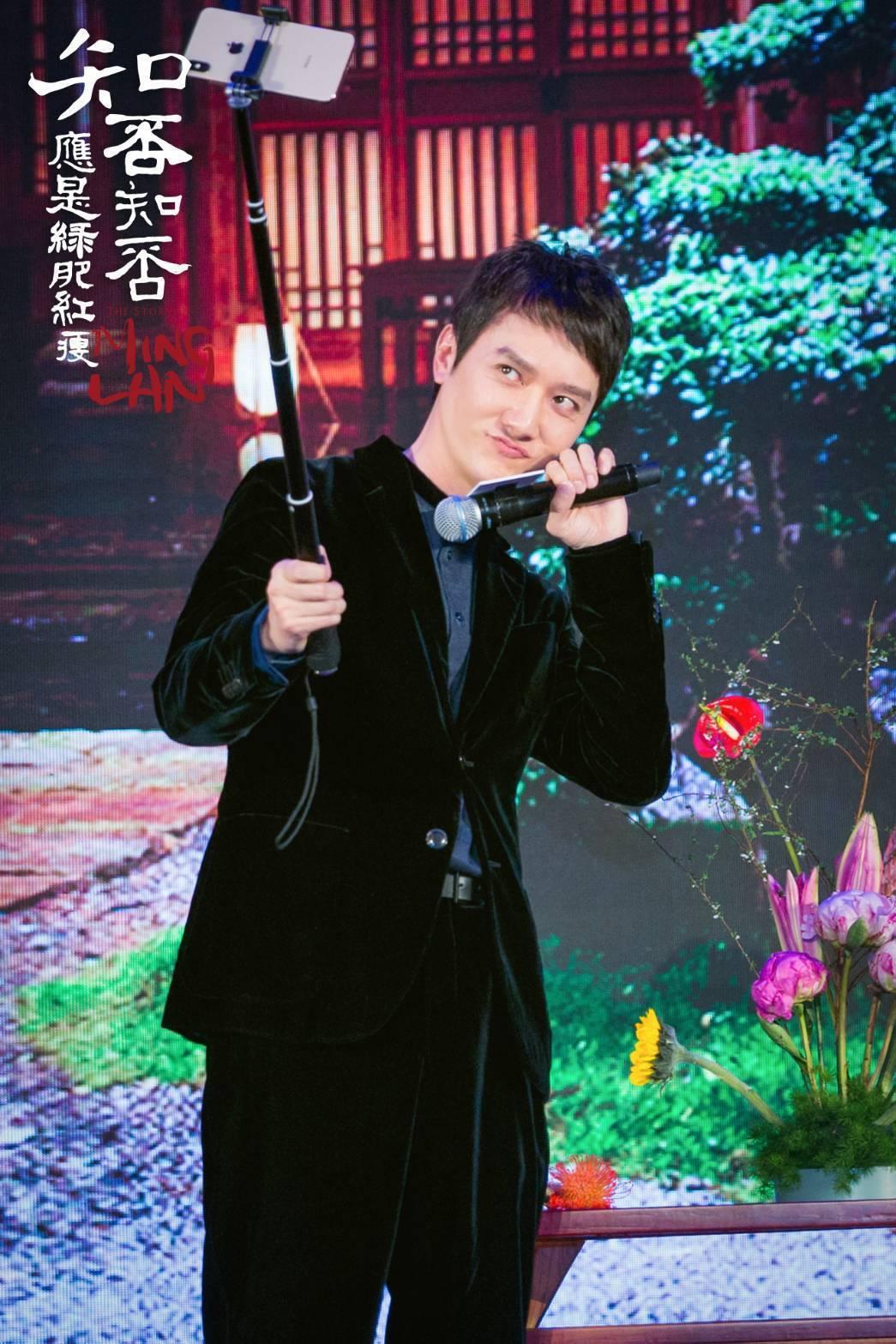 馮紹峰宣傳「知否知否應是綠肥紅瘦」。圖/八大提供