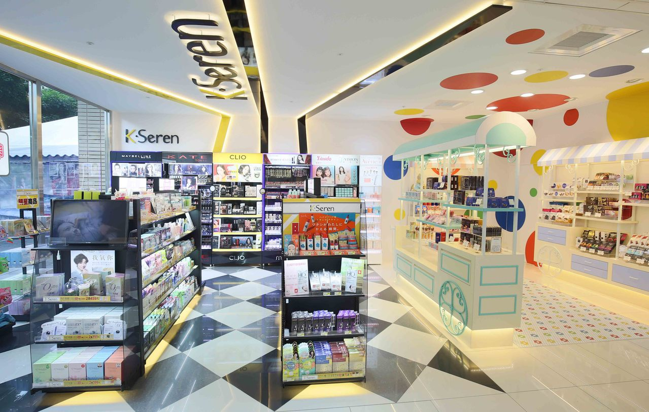 繽紛可愛的精品糖果屋與追求高顏質的「K・Seren」美妝複合店,滿足都會女性需求...