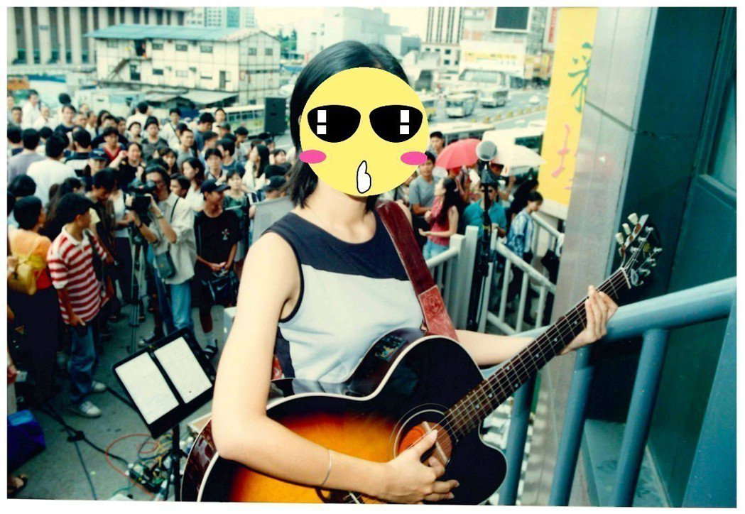 陳綺貞20年前的青澀模樣曝光。圖/KKBOX提供