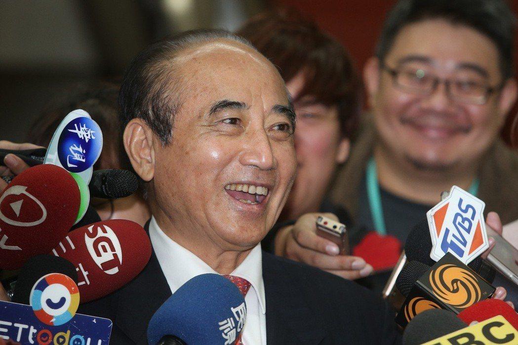 立法院前院長王金平(圖)被詢及是否參選選總統,他表示一切隨因緣。記者曾吉松/攝影