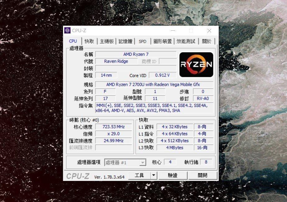 處理器採AMD RYZEN 7 2700U。 彭子豪/攝影