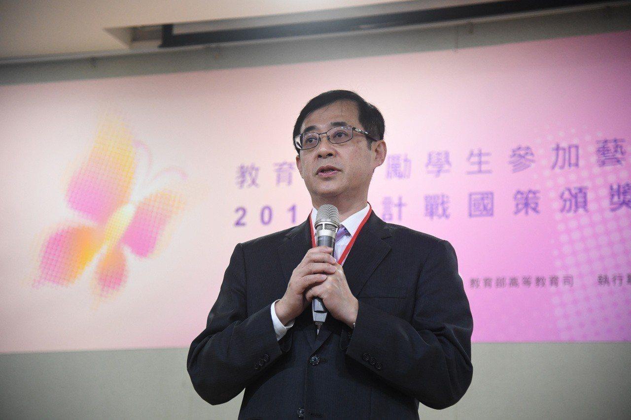 教育部政務次長姚立德(圖)代理教育部長。 中央社