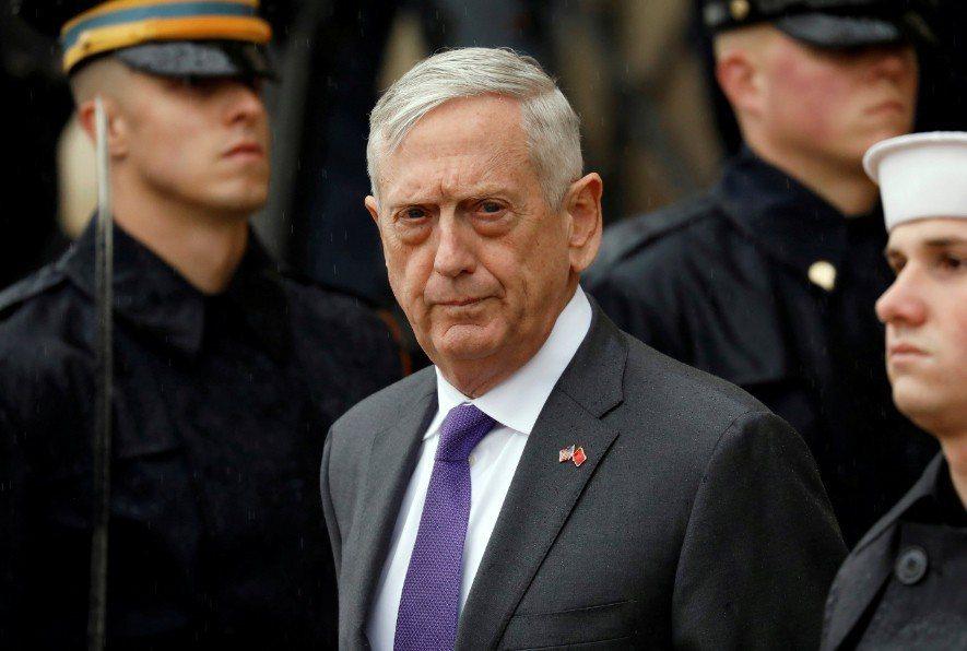 美國國防部長馬提斯(Jim Mattis)。 路透社