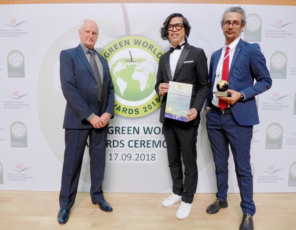 歐萊德2018年再度榮獲英國全球綠色環保獎。 歐萊德/提供