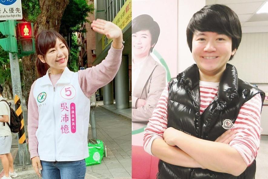吳沛憶(左)與許家蓓(右)被爆傳出戀情。 報系資料照
