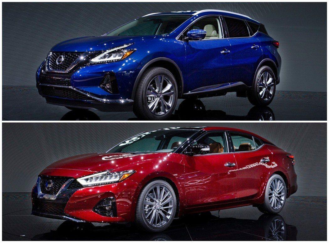 Nissan在2018洛杉磯車展中,帶來小改款的Murano與Maxima。 摘...