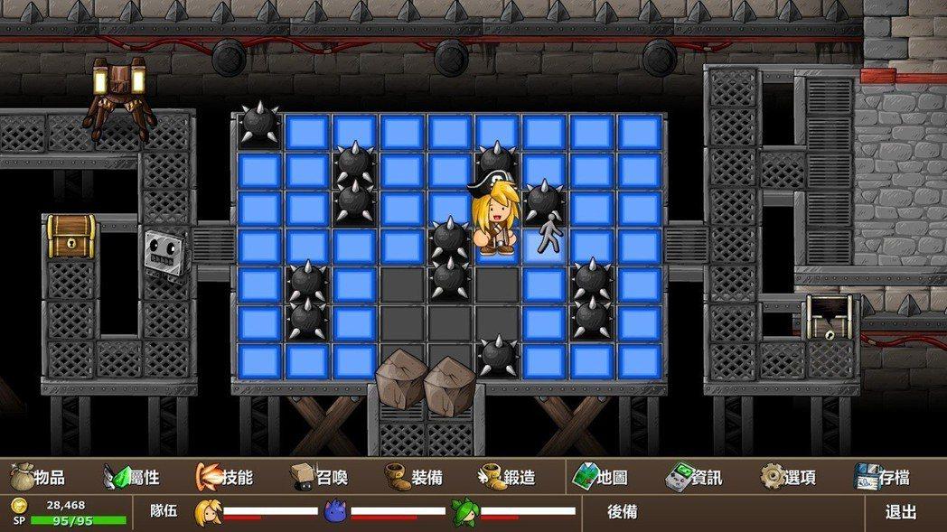 踩平台類型的益智遊戲,這就是遊戲中最困難的解謎要素了。