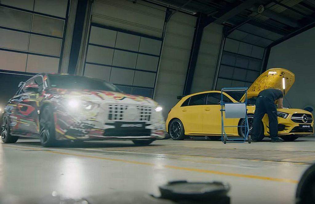 新世代賓士AMG A45依舊配置2.0L直列四缸渦輪增壓引擎,並確認馬力將突破4...