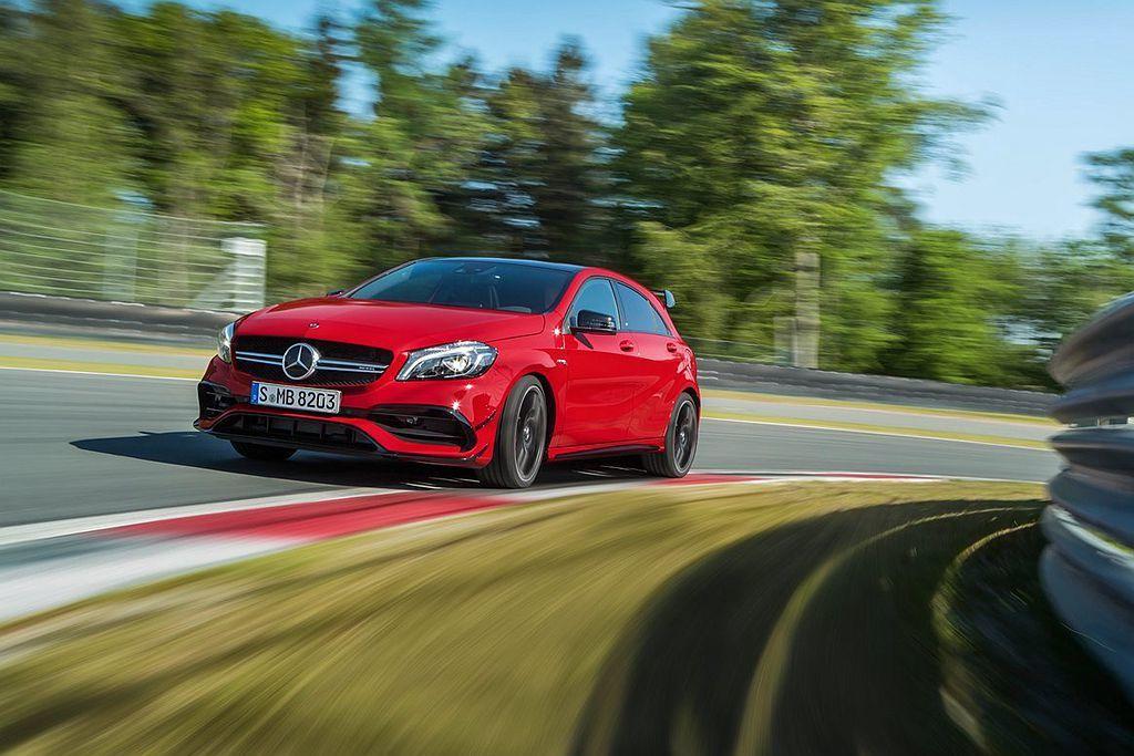 現行Mercedes-AMG A 45的381hp馬力輸出已經很驚人,但新世代車型將會有更高的演藝。 圖/Mercedes-AMG提供