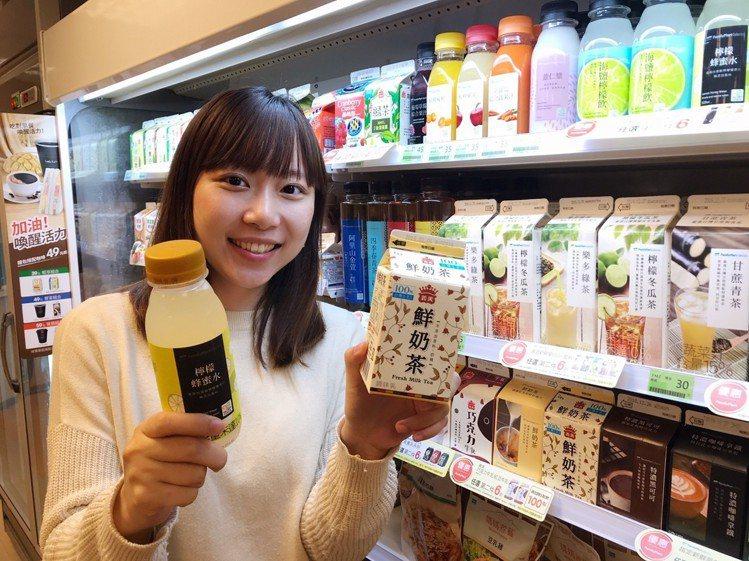 全家公布2018年度飲料風雲榜,義美鮮奶茶、檸檬蜂蜜水不管在話題還是銷量都榜上有...