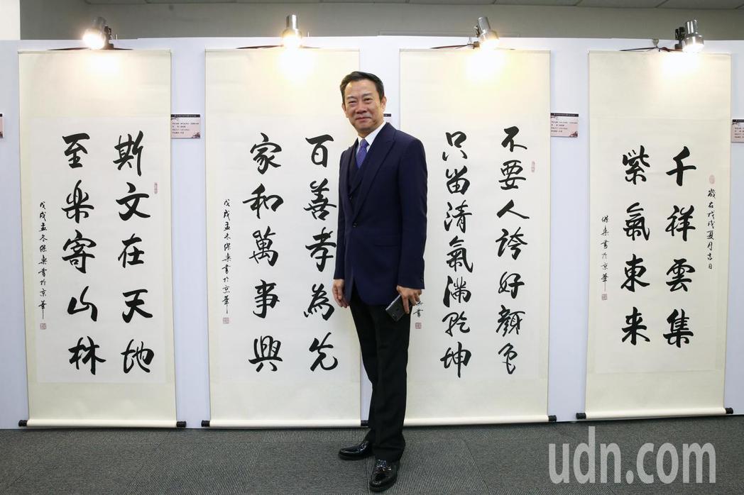 趙保樂與他的作品參與第七屆海峽兩岸電視藝術節。記者蘇健忠/攝影