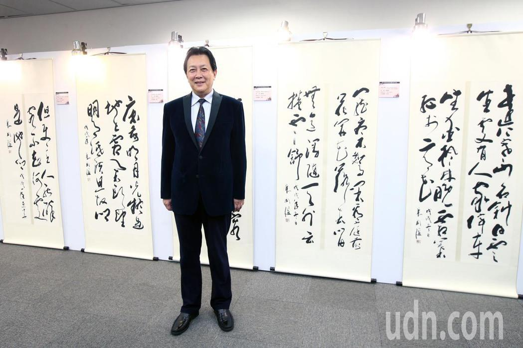 「雍正皇」唐國強與他的作品參與第七屆海峽兩岸電視藝術節。記者蘇健忠/攝影