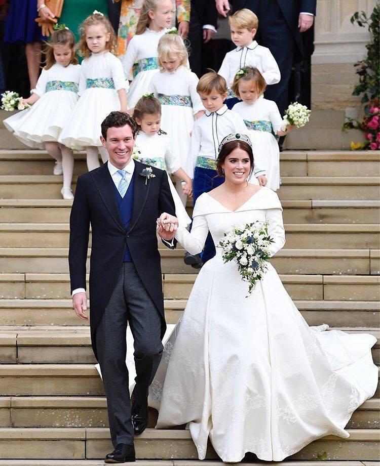 英國女王伊莉莎白二世的孫女尤金妮公主於10月12日舉辦婚禮。圖/取自IG @th...