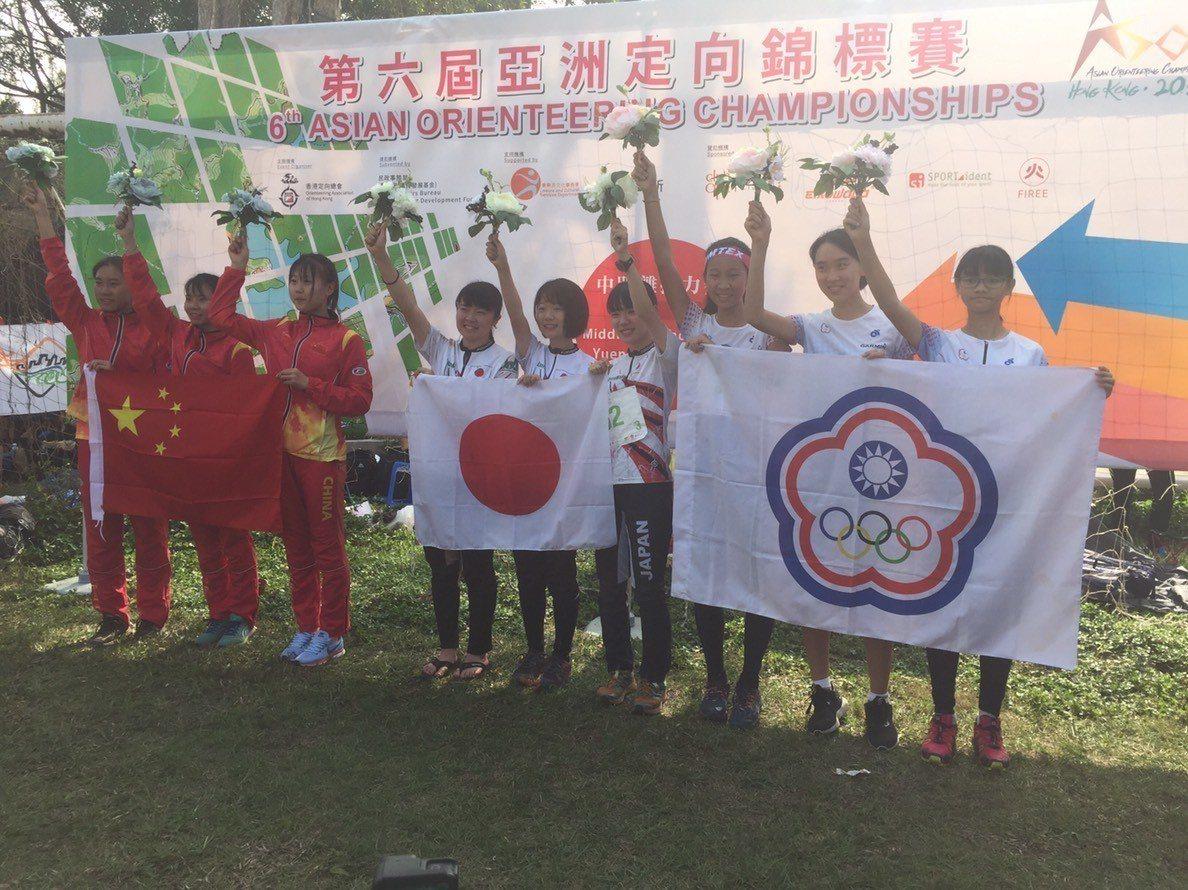 中華隊在香港亞洲定向越野錦標賽拿下1銀1銅佳績。圖/中華定向越野協會提供