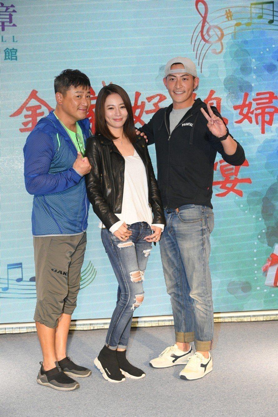 江宏恩(左起)高宇蓁、趙駿亞出席殺青酒  圖/三立提供