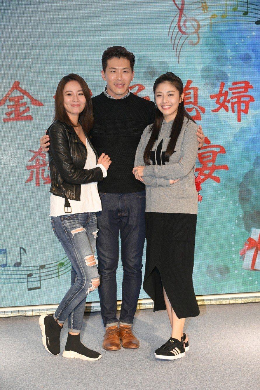 高宇蓁(左起)黃少祺、韓瑜出席殺青酒  圖/三立提供