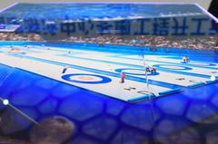 水立方變身「冰立方」 泳池抽乾鋪上11層冰