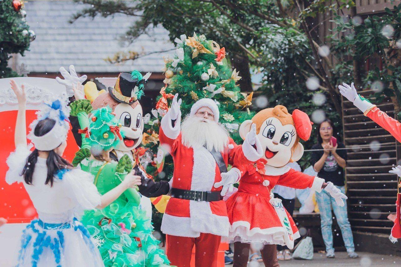 六福村的耶誕節活動檔期持續至明年1月1日。圖/六福村提供