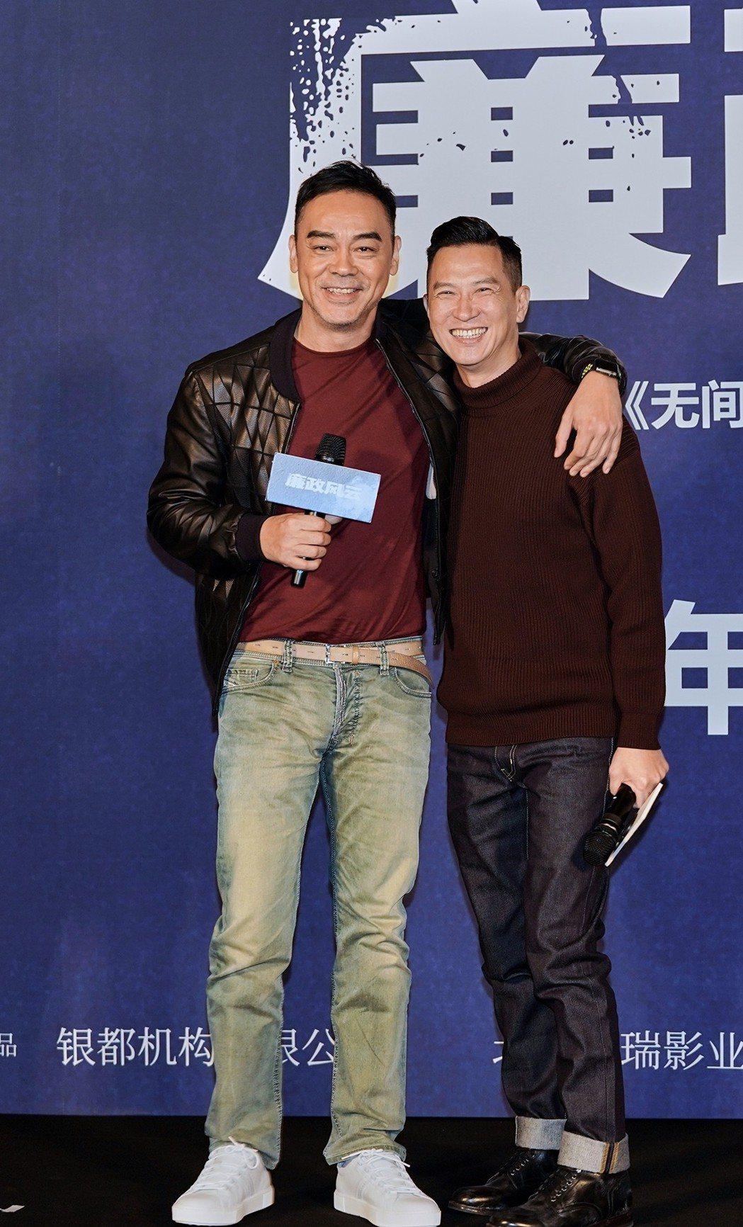 金馬兩大影帝劉青雲(左)及張家輝繼「掃毒」後再度合作。圖/華映娛樂提供