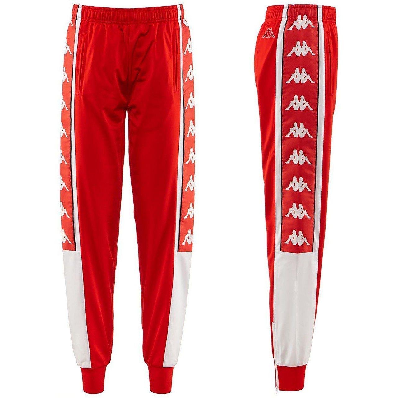 Kappa Banda 10系列紅色運動長褲,1,980元。圖/永三提供
