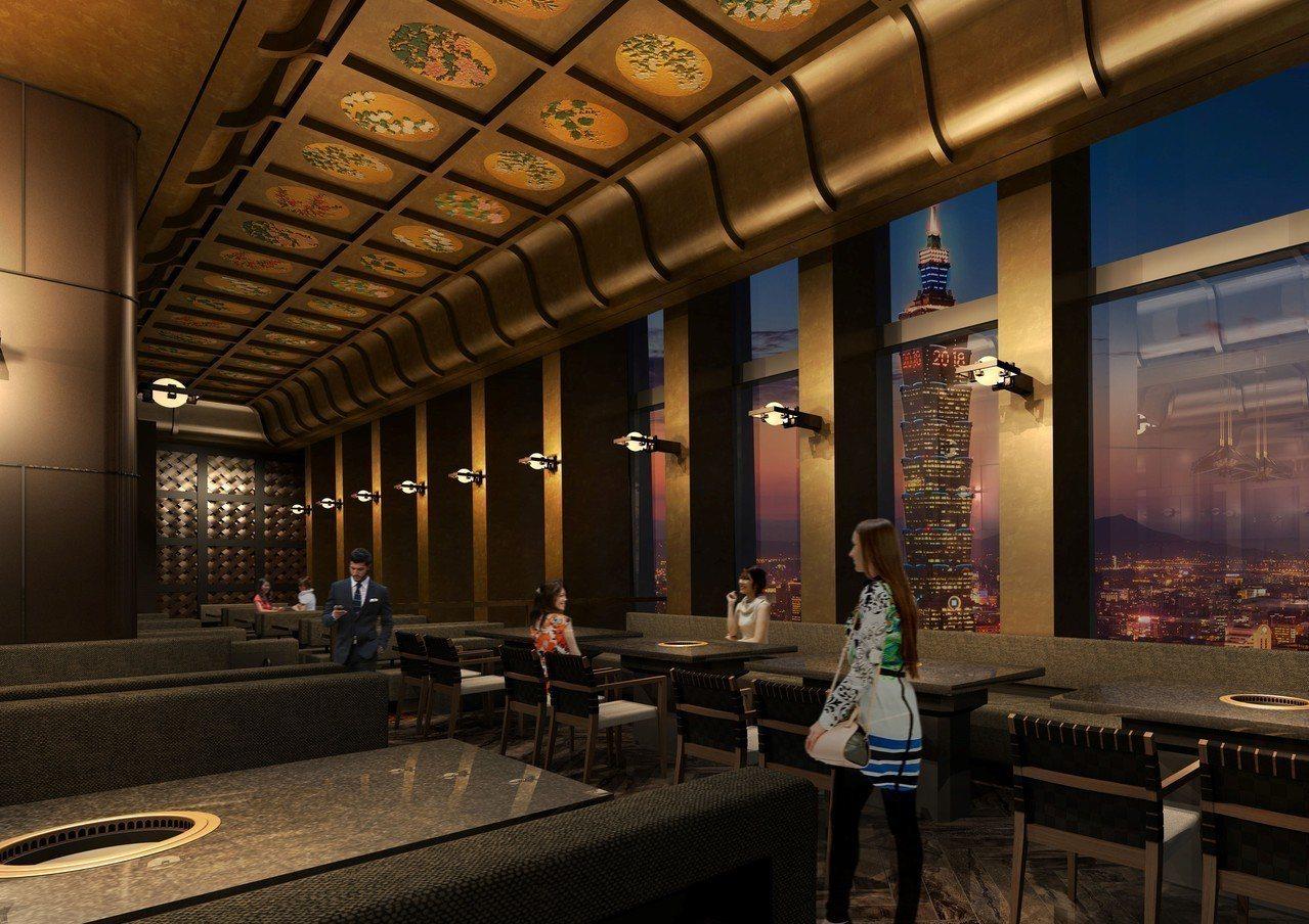 座落於47樓的和牛47,為全台最高的燒肉店。圖/乾杯提供