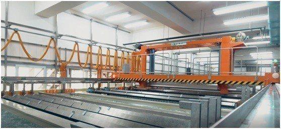 邑昇實業新採購的二銅線設備。 邑昇實業/提供