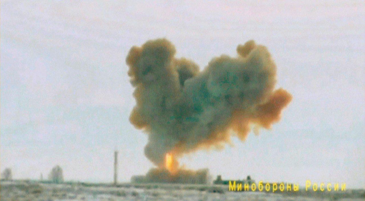 俄國總統普亭宣布最新高超音速飛彈測試成功(見圖)。 路透
