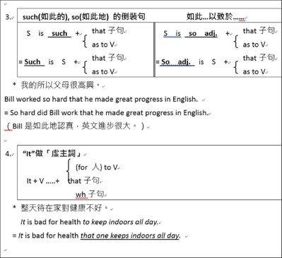 大學學測英文奪標句型Top 10(2)。圖/齊斌提供