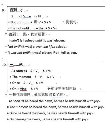 大學學測英文奪標句型Top 10(5)。圖/齊斌提供