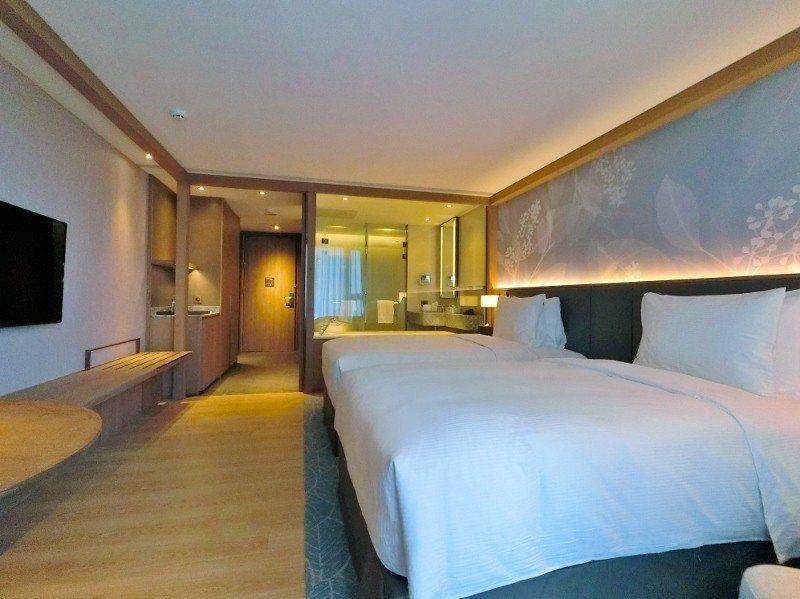 中山逸林酒店客房10坪起跳。 業者/提供