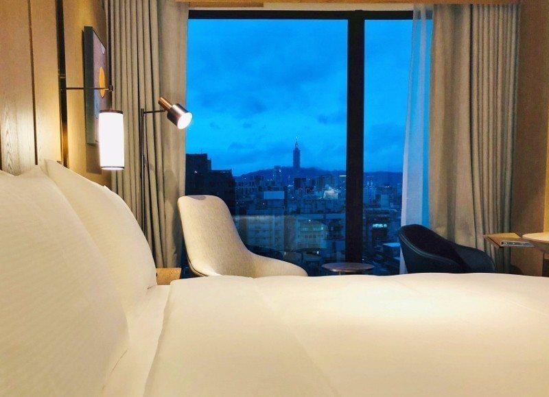 中山逸林酒店「林隅客房」可遠眺台北101,成為「台北跨年煙火房」新選擇。 業者/...