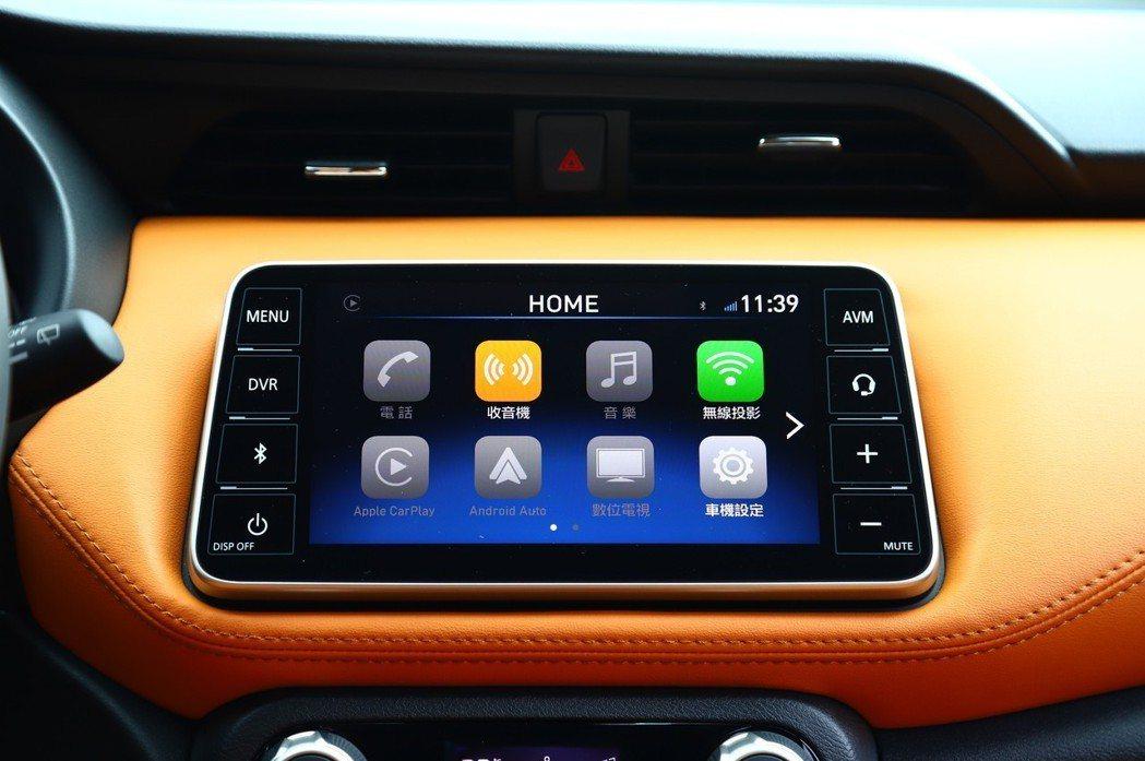 旗艦車型提供AVM環景顯影系統外,支援Apple CarPlay與Android...