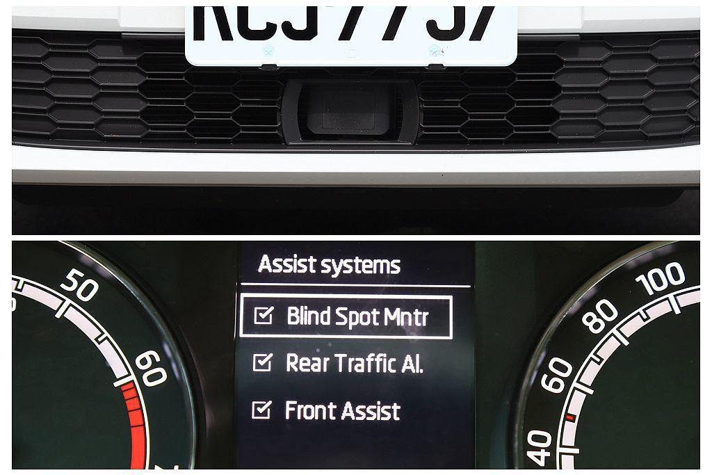 AEB自動緊急剎車系統包含Front Assist前方輔助系統,當前方車輛速驟降...