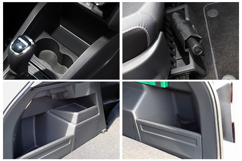 車內空間應用設計是Skoda汽車的強項,如前乘客座下方收納盒、後廂兩側規劃數個空...